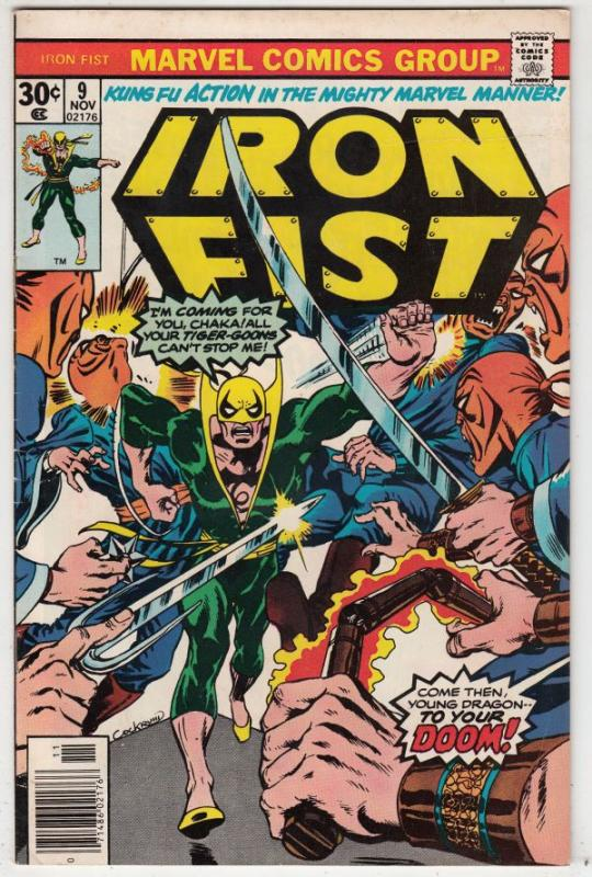 Iron Fist #9 (Nov-76) NM- High-Grade Iron Fist