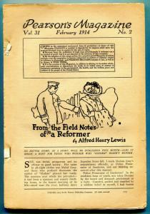 Pearson's Magazine Pulp February 1914- coverless bargain