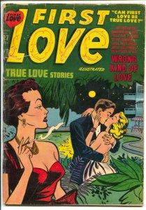 First Love #27 1953-Harvey-Bob Powell art-lingerie-bath tub panels-G