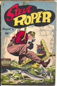 Steve Roper #3 1948-Famous Funnies-plane crash -Big Chief Wahoo-camera-VG-