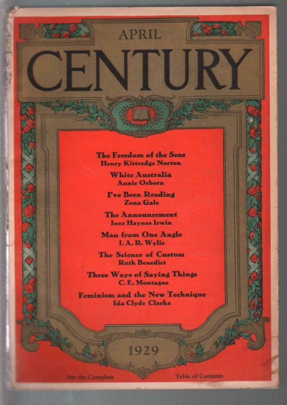 Century 4/1929-contributor profiles-Annie Osburn-Zona Gale-pulp format-G+
