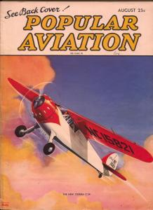 Popular Aviation 8/1936-Cessna-C-34-1st X-Wing planes-H.R. Bollin-FN-