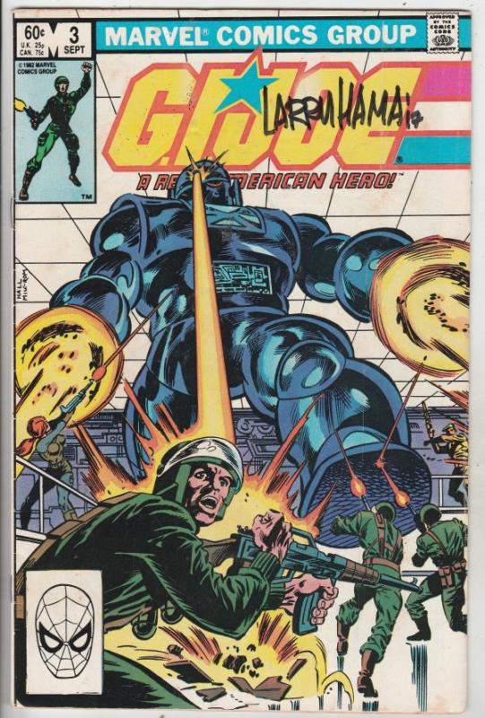 G.I. Joe signed #3 (Sep-82) FN+ Mid-High-Grade G.I. Joe