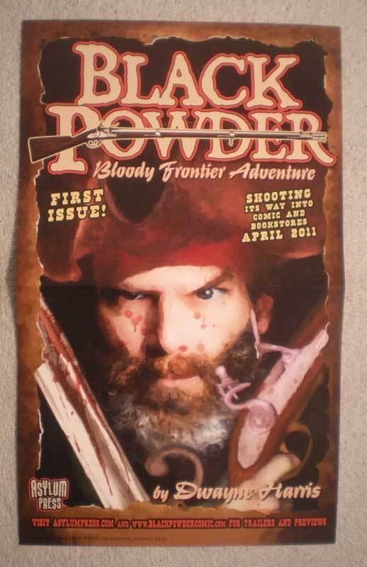 BLACK POWDER Promo Poster, Pirates, 8.5x14, 2010, Unused, more Promos in store