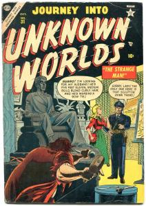 Journey Into Unknown Worlds #31 1954-Atlas horror VG
