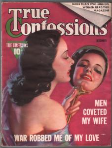 True Confessions 12/1939-Fawcett-pin-up girl cover-spicy stores-pix-VG-