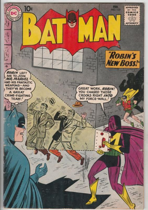 Batman #137 (Feb-61) VG+ Affordable-Grade Batman