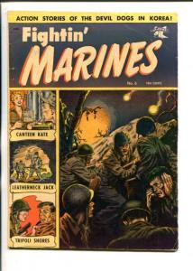 FIGHTIN' MARINES #6-1952-ST JOHNS-CANATEEN KATE-MATT BURKE-KOREAN WAR-vg+