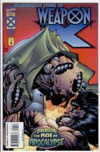 WEAPON X #4, NM+, Kubert, Hama, X-Men, Wolverine, 1995, more Marvel in store