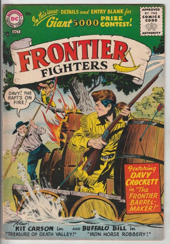 Davy Crockett Frontier Fighters #7 (Sep-56) FN/VF+ High-Grade Davy Crockett