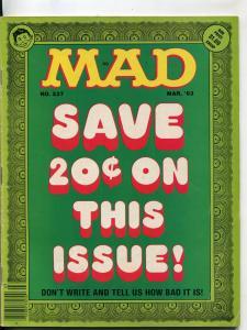 Mad-Magazine-#237-March 1983-Mort Drucker-Don Martin-David Berg