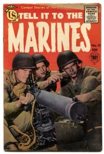 Tell it to the Marines #15 1955- Final issue VG