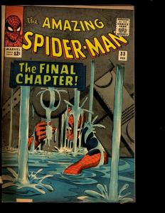 Amazing Spider-Man # 33 VG/FN Marvel Comic Book Goblin Gwen Stacy Aunt May NE3