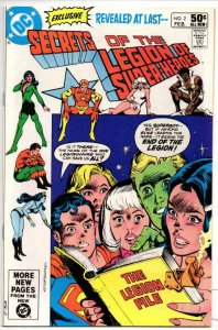 SECRETS OF THE LEGION OF SUPER-HEROES #2, VF+, Superman, DC 1981