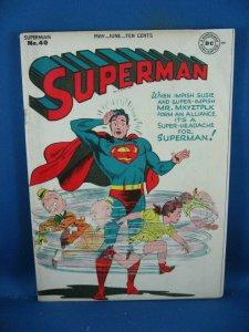 SUPERMAN 40 F 1946 MR MXYZTPLK