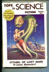 Tops In Science Fiction #1 1953-Bradbury- Asimov-SOUTHERN STATES PEDIGREE-vg