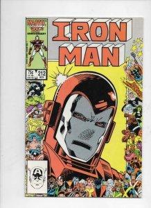IRON MAN #212, VF Tony Stark, Legacy, 1968 1986, more IM in store, Marvel