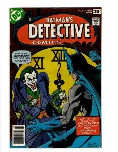 Detective Comics # 475 FN/VF DC Comic Book Batman Robin Joker Catwoman SR1