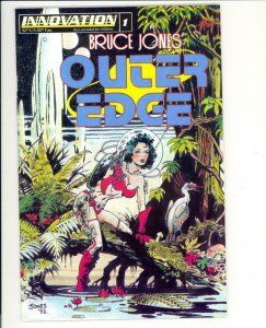 OUTER EDGE #1, VF/NM, Bruce Jones, 1993, Innovation Comics, Dinosaurs