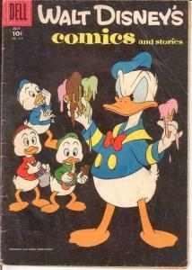 WALT DISNEYS COMICS & STORIES 214 GOOD   July 1958 COMICS BOOK