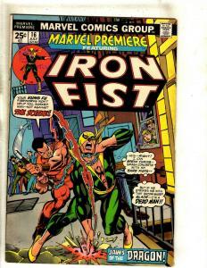 Marvel Premiere # 16 FN Feat. Iron Fist Marvel Comic Book Karate Netflix TV RS1