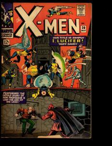 (Uncanny) X-Men # 20 VG/FN Marvel Comic Book Cyclops Beast Angel Iceman NE3