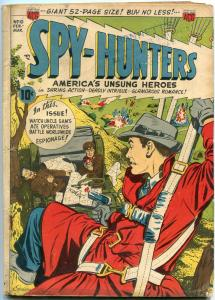 Spy-Hunters #10 1951- Blasts the Commies- Parachute cover VG