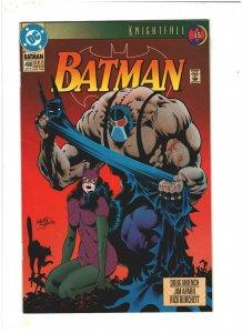 Batman #498 VF/NM 9.0 DC Comics Knightfall pt.15 Bane, Catwoman & Robin app.