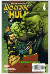 ULTIMATE WOLVERINE vs HULK #4, VF+, Battle, 1st, Claws, 2009, more in store