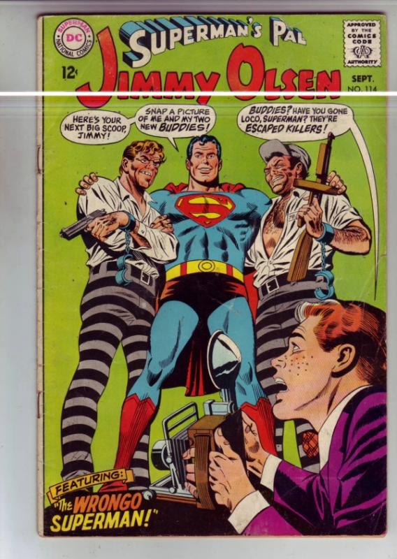 Superman's Pal Jimmy Olsen #114 (Sep-68) VG/FN- Mid-Grade Jimmy Olsen