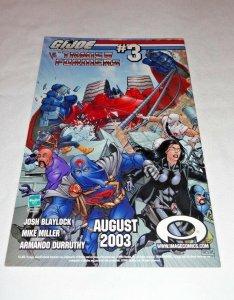 G.I. Joe vs The Transformers #2 Limited Edition Sketch Variant (Jul 2003, Image)