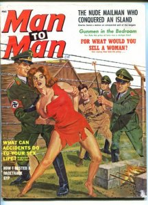 MAN TO MAN-NOV 1962-NAZI-BRANDING-CHEESECAKE-TERROR-TORTURE-good/vg