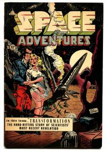 SPACE ADVENTURES #7-1953-Sex change-Transformation story-Wild issue--CHARLTON...