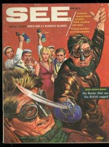 SEE FOR MEN SEPT 1959-WILD FENCING COVER-SAWNEY BEANE FN
