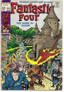 Fantastic Four #84 Marvel 1969 Doctor Dr Doom Nick Fury Stan Lee Jack Kirby