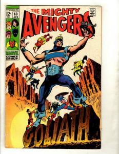 Avengers # 63 VG/FN Marvel Comic Book Hulk Thor Iron Man Captain America GK2