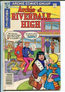 Archie at Riverdale High #78 1981- Betty and Veronica -motorcycle cover-FN