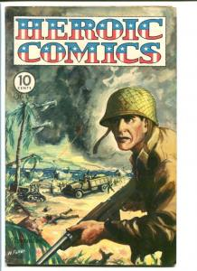 HEROIC COMICS #33 1944-WWII-WAR-ALEX TOTH ART FN