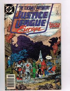 Justice League Europe #8 VF DC Comics Comic Book JLA Batman Nov 1989 DE42