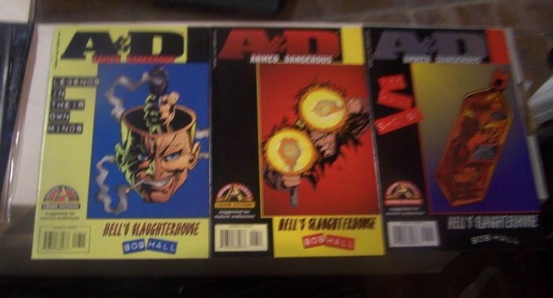 Armed and Dangerous #1 2 3 hells slaughterhouse (1996 Acclaim /Valiant) bob hall