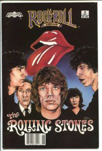Rock 'n' Roll Comics #6 1990-Rolling Stones-1st Scott Jackson cover-black cov...