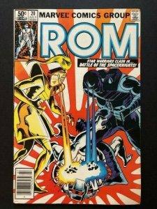 MARVEL ROM Spaceknight #20 Star Warriors Newstand Variant F/VF (A42)