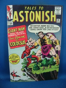 TALES TO ASTONISH 58 F VF ORIGIN COLOSSUS 1964