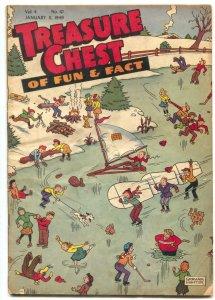 Treasure Chest Vol. 4 #10 1949- Graham Hunter cover VG