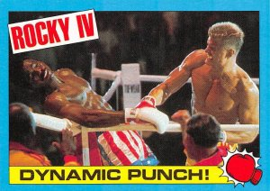 1985 Topps Rocky IV #19 Dynamic Punch! > Ivan Drago > Apollo Creed