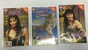 Xena Warrior Princess Original Olympics #1-3 Topps 3 diff books 8.0 VF (1998)