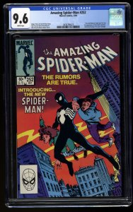 Amazing Spider-Man #252 CGC NM+ 9.6 White Pages 1st Black Costume!