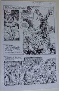 DON LOMAX Original Art, Vietnam Journal #8 pg 19, Brain Dead Horror,Caliber,2011