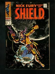 NICK FURY AGENT OF SHIELD #6 1968- SCI FI COVER- VF/NM