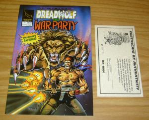 Lightning Comics Presents #1 VF/NM limited edition with COA dreadwolf war party